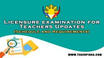 LET Updates Requirements and Schedule