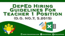 DepEd Hiring Guidelines for Teacher 1 Position