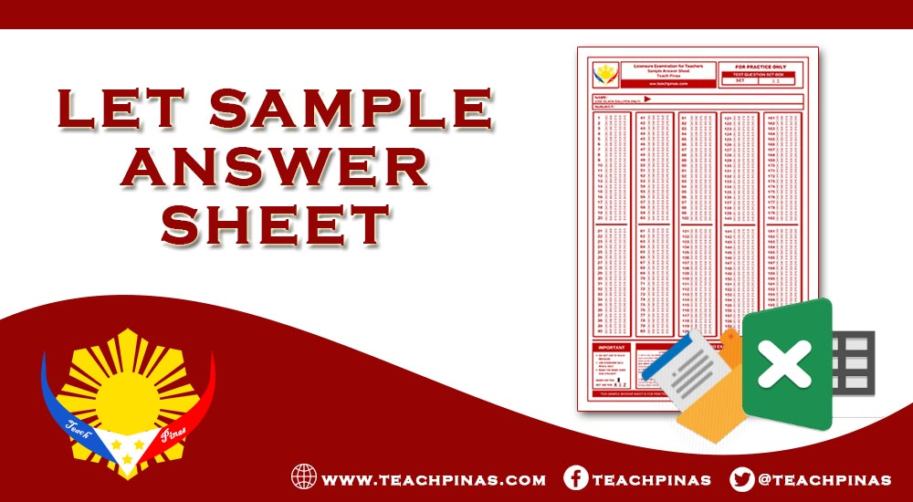LET Sample Answer Sheet