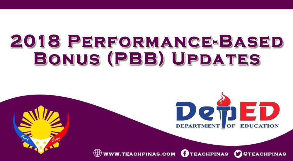 2018 Performance-Based Bonus (PBB) Updates