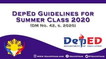 DepEd Guidelines for Summer Class 2020