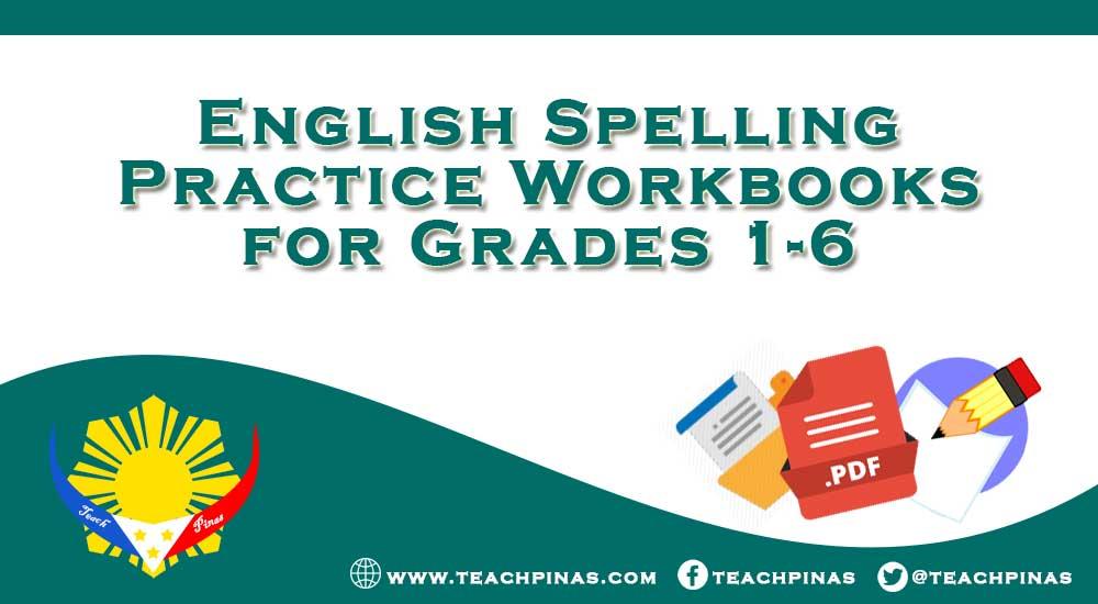 English Spelling Practice Workbooks for Grades 1-6