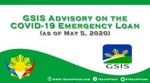 GSIS Advisory on the COVID-19 Emergency Loan (as of 5 May 2020)