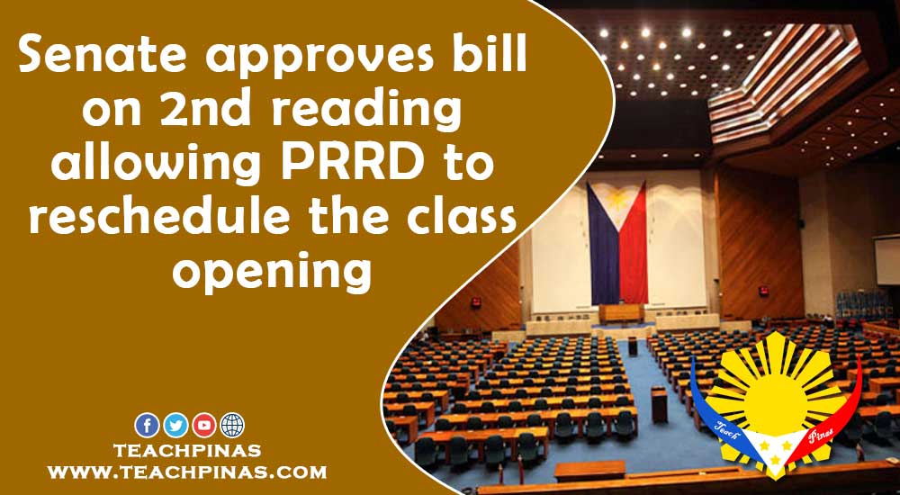 Senate approves bill on 2nd reading allowing PRRD to reschedule the class opening
