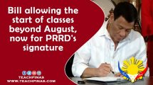 Bill allowing the start of classes beyond August, now for PRRD's signature