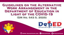 DepEd Guidelines on the Alternative Work Arrangements in Light of COVID-19
