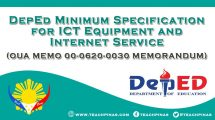 DepEd Minimum Specification for ICT Equipment and Internet Service