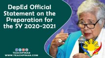 DepEd Official Statement on the Preparation for the SY 2020-2021