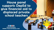House panel supports DepEd to give financial aid to displaced private school teachers