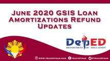 June 2020 GSIS Loan Amortizations Refund Updates