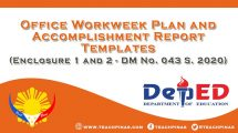 Office Workweek Plan and Accomplishment Report Templates