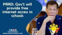 PRRD: Gov't will provide free internet access in schools