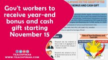 Gov't workers to receive year-end bonus and cash gift starting Nov 15