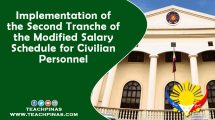 Implementation of the Second Tranche of the Modified Salary Schedule for Civilian Personnel