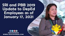 SRI and PBB 2019 Update to DepEd Employees as of January 17, 2021