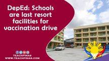 Schools are last resort facilities for vaccination drive