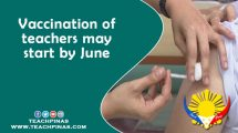 Vaccination of teachers may start by June