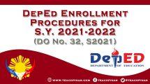 DepEd Enrollment Procedure 2021-2022